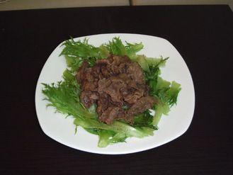 フリルクイーンと牛肉の炒め